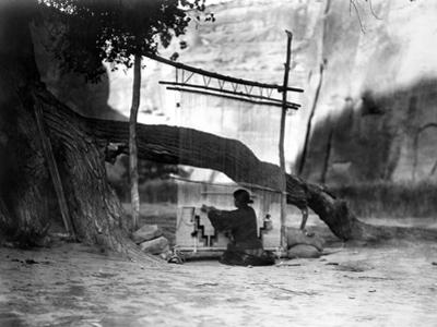 Navajo Weaver, C1905 by Edward S. Curtis
