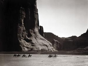 Navajos: Canyon De Chelly, 1904 by Edward S. Curtis