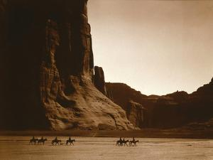 Navajos, Canyon De Chelly, c.1904 by Edward S. Curtis