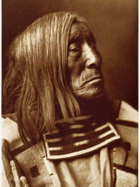 Portrait of Famous Warrior, Lone Tree-Apsroke, Born in 1828 by Edward S. Curtis