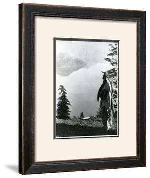 Praying to the Spirits at Crater Lake, Klamath by Edward S. Curtis