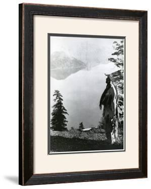 Praying to the Spirits at Crater Lake, Klamath by Edward S. Curtis