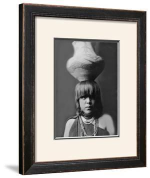 San Ildefonso Girl with Jar by Edward S. Curtis