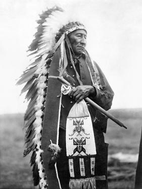 Sioux Chief, C1905 by Edward S. Curtis