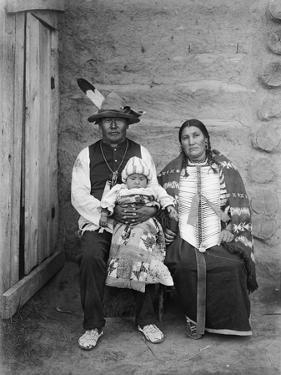 Sioux Family, C1908 by Edward S. Curtis