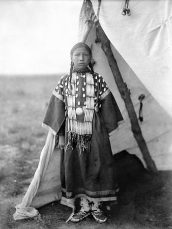 Sioux Girl, C1905 by Edward S. Curtis