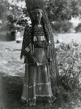 Sioux Maiden by Edward S^ Curtis