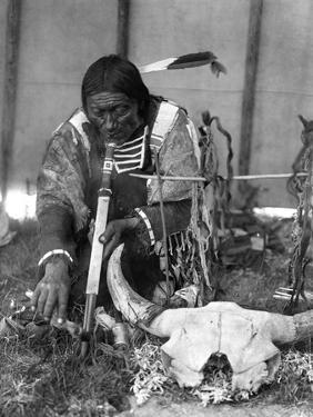 Sioux Medicine Man, c1907 by Edward S. Curtis