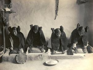 The Hopi Mealing Trough by Edward S. Curtis