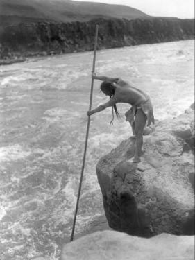 The Wishham Fisherman by Edward S. Curtis