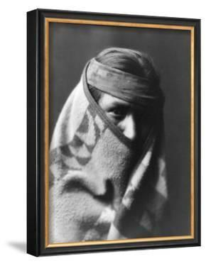 Wrapped in Blanket by Edward S. Curtis