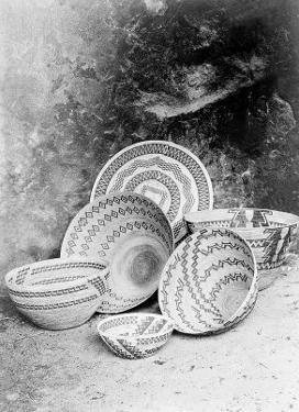 Yokuts Baskets by Edward S^ Curtis