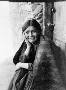 Young Girl Smiling by Edward S. Curtis