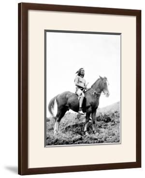 Young Yakima on Horseback by Edward S. Curtis