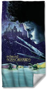 Edward Scissorhands Movie Poster Beach Towel