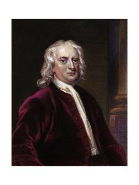 Portrait of Sir Isaac Newton by Edward Scriven