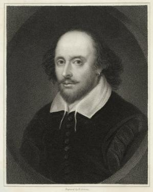 William Shakespeare English Playwright and Poet by Edward Scriven