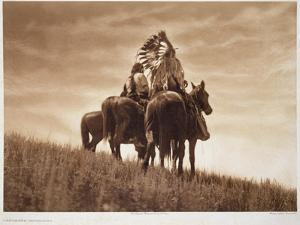 Cheyenne Warriors, 1905, Photogravure by John Andrew and Son (Photogravure) by Edward Sheriff Curtis