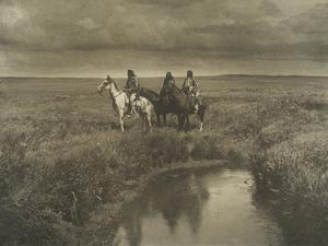 The Three Chiefs, Blackfoot Montana, 1900 by Edward Sheriff Curtis