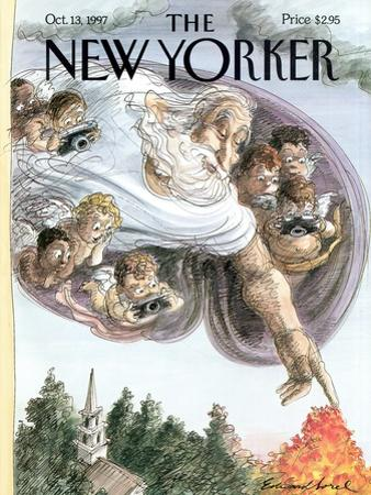 The New Yorker Cover - October 13, 1997 by Edward Sorel