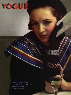 Vogue Cover - March 1934 by Edward Steichen