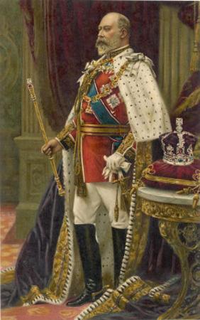 Edward VII British Royalty in His Coronation Robes