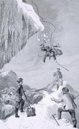 We Saw a Toe - It Seemed to Belong to Moore, The Ascent of the Matterhorn Whymper, c.1860
