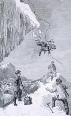 We Saw a Toe - It Seemed to Belong to Moore, The Ascent of the Matterhorn Whymper, c.1860 by Edward Whymper