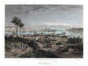 Valparaiso, Chile, 1840 by Edward Willmann