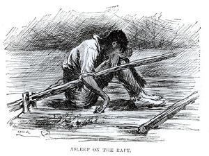 Asleep on the Raft, Illustration from 'The Adventures of Huckleberry Finn', by Mark Twain by Edward Windsor Kemble