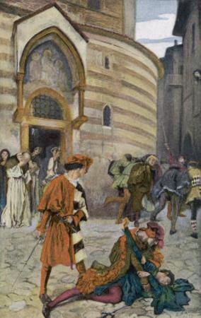 Romeo and Juliet, Act III Scene I, The Death of Mercutio Romeo's Friend