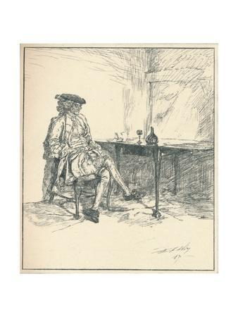 The Letter. Unpublished Pen Drawing, 1890', 1923