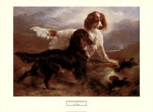 Two Setters in a Highland Landscape by Edwin Douglas