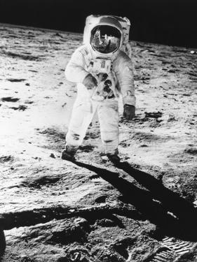Edwin E. Aldrin Jr. Walks the Moon