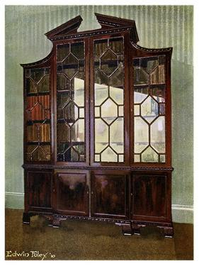 Carved Chippendale Library Bookcase, 1911-1912 by Edwin Foley