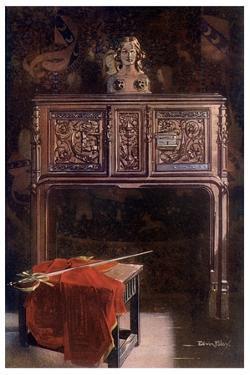 Carved Oak Lous XII Dressoir, 1910 by Edwin Foley