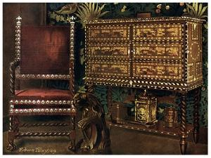 Group of Late 16th Century Continental Furniture, 1910 by Edwin Foley