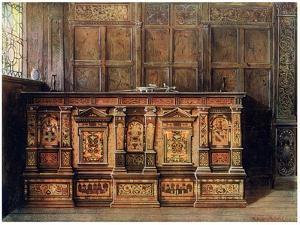 Inlaid Muniment Chest, 1910 by Edwin Foley