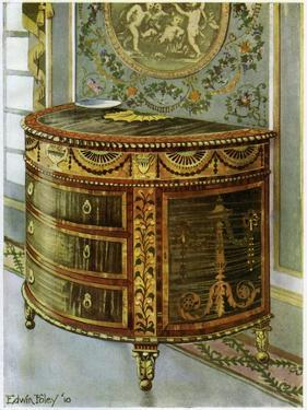 Inlaid Satinwood Commode with Ormolu Mounts, 1911-1912 by Edwin Foley