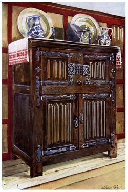 Oak Double Hutch, 1910 by Edwin Foley