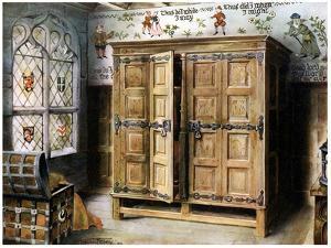 Oak Press, Strangers' Hall, Norwich, Norfolk, 1910 by Edwin Foley