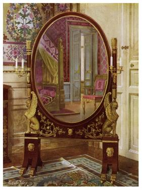 Oval Mirror and Bed of Napoleon I, 1911-1912 by Edwin Foley