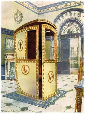 Painted and Lacquered Sedan Chair with Domed Top, 1911-1912 by Edwin Foley