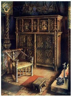 The 'King's Room' Oxburgh Hall, Norfolk, 1910 by Edwin Foley