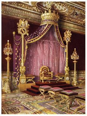 Throne Room in the Palace of Fontainebleau, France, 1911-1912 by Edwin Foley