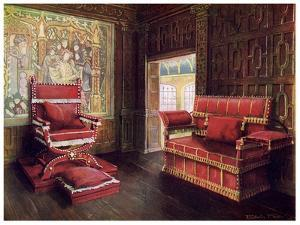 Upholstered Chair and Couch with Adjustable Ends, 1910 by Edwin Foley