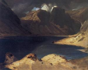 A Lake Scene: Effect of a Storm by Edwin Henry Landseer