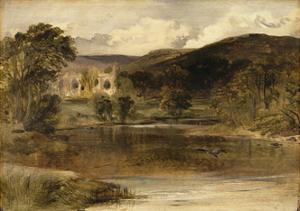 Bolton Abbey, Yorkshire by Edwin Henry Landseer
