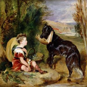 Hours of Innocence: Lord Alexander Russell Son of the 6th Duke of Bedford with His Dog by Edwin Henry Landseer