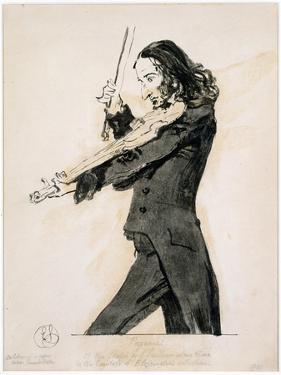 Niccolo Paganini Playing the Violin, 1831 by Edwin Henry Landseer